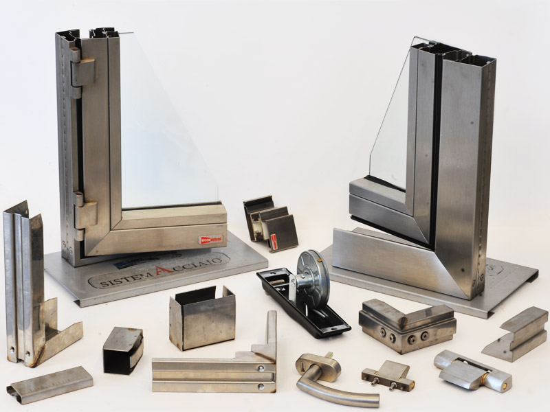 Stainless modular systems for furnishingsistemi modulari for Arredo system